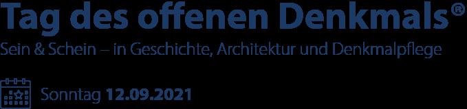 12.09.: Sein & Schein - offenes Denkmal